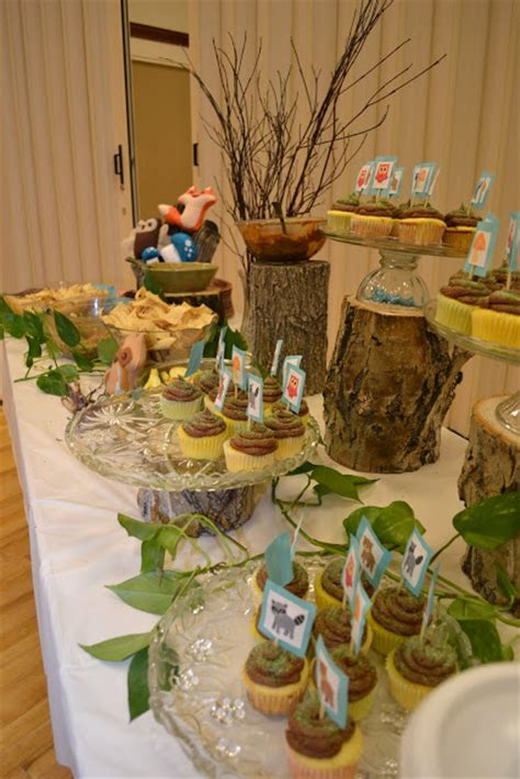 woodland animals baby shower decor