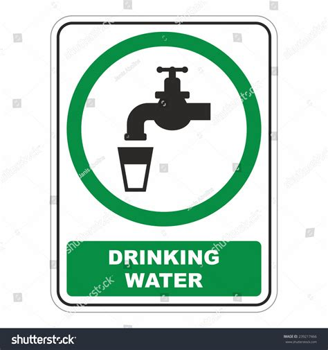 cold water faucet water sign stock vector 239217466