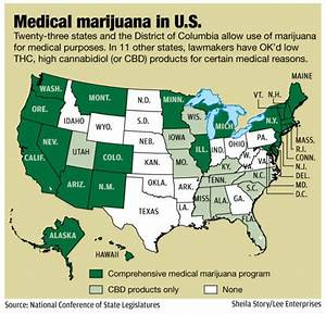 legal recreational weed states list