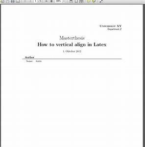 Formatting what is a good practice to achieve vertical for Apa style latex template