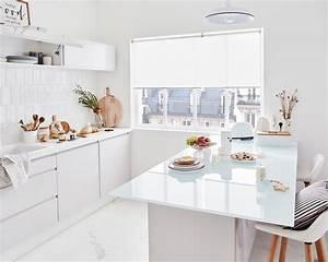 Ilot Central Cuisine Leroy Merlin : une cuisine et l 39 lot central blanc immacul leroy merlin ~ Melissatoandfro.com Idées de Décoration