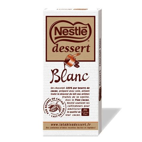tablette chocolat nestle dessert tablette de chocolat nestl 233 dessert blanc le club nestl 233 r 233 union