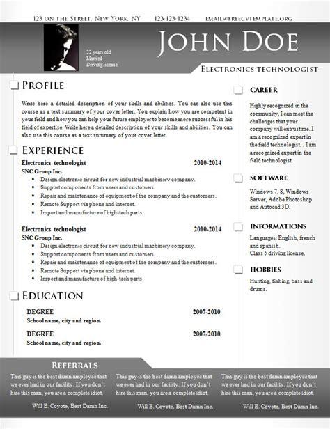 free cv resume templates 639 to 645 free cv template