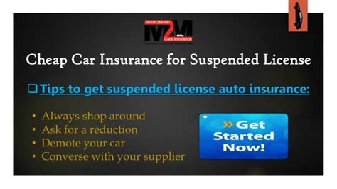 Cheap Insurance For by Ppt Get Car Insurance With Suspended License With Most