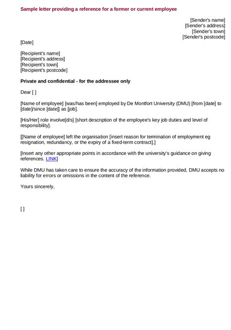 reference letter template from employer 9 employee reference letter exles sles in pdf