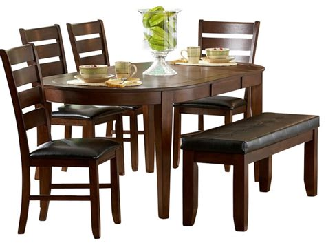 dining room sets with leaf homelegance ameillia 6 butterfly leaf oval dining
