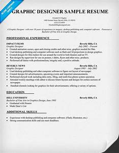 graphic designer resume sample resumecompanioncom With designer resume format