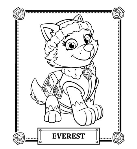 Nick Jr Paw Patrolad25394a Free Colouring Pages