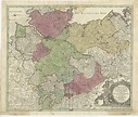 Antique Map of the Lower Saxony Region by Homann (c.1730)