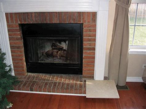 travertine brick fireplace ceramic tile advice