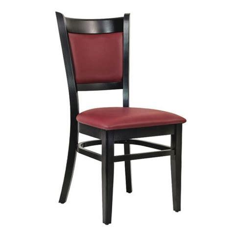 chaise de restaurant chaise de restaurant en bois assise rembourré bordeaux czh