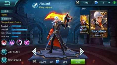 Wallpaper Mobile Legend Alucard Fiery Inferno
