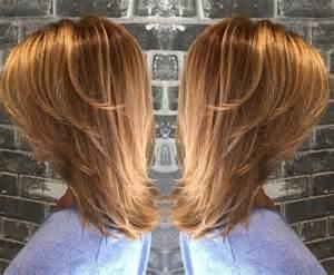 Mittellange Gestufte Frisuren