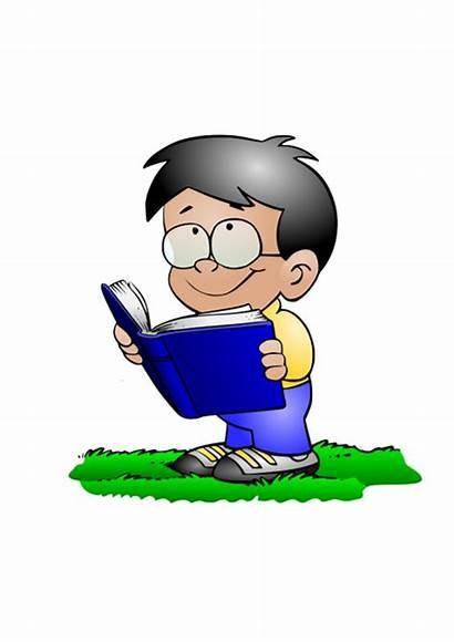 Reading Clip Clipart Funny Children Books Cartoon