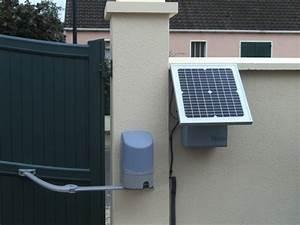 Moteur Solaire Portail Coulissant : moteur solaire portail portail pour garage maison infos ~ Edinachiropracticcenter.com Idées de Décoration