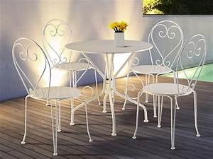 Table A Manger Jardin : table de jardin en fer forg guermantes blanc ~ Melissatoandfro.com Idées de Décoration