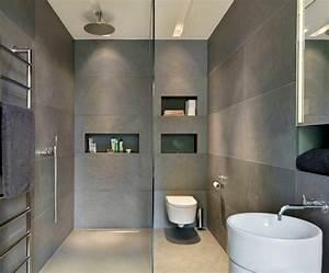 Revetement Mural Salle De Bain Adhesif : salle de bain ardoise naturelle et chic ~ Dailycaller-alerts.com Idées de Décoration