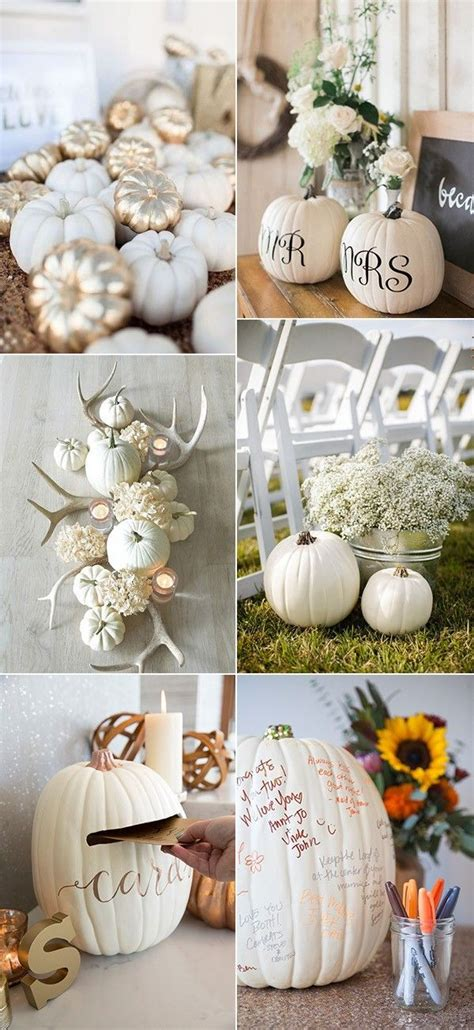 pumpkin wedding ideas  pinterest pumpkin