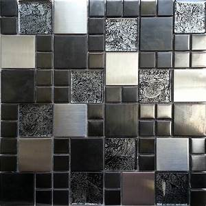 metallic random mix glass mosaic wall tiles kitchen With metallic mosaic bathroom tiles