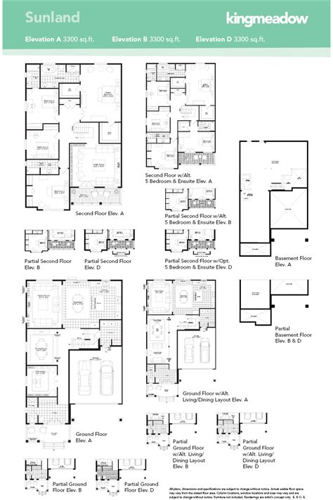 Floor Plans For New Homes by The Sunland At Kingmeadow In Oshawa By The Minto Group