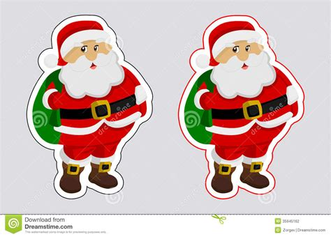 a sticker santa claus with outline color stock