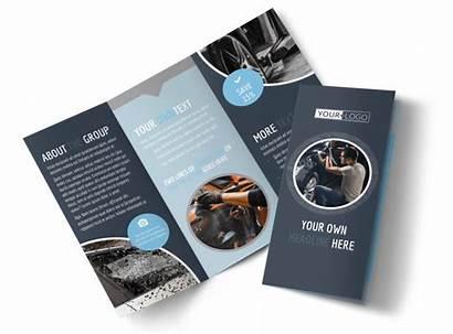 Brochure Glass Template Templates Brochures Tri Fold