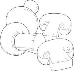 Mushrooms Outline Clip Art at Clker.com - vector clip art ...