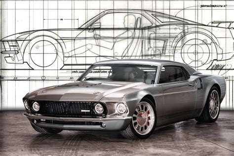 legends collide the custom mustang gt40 ford mach 40