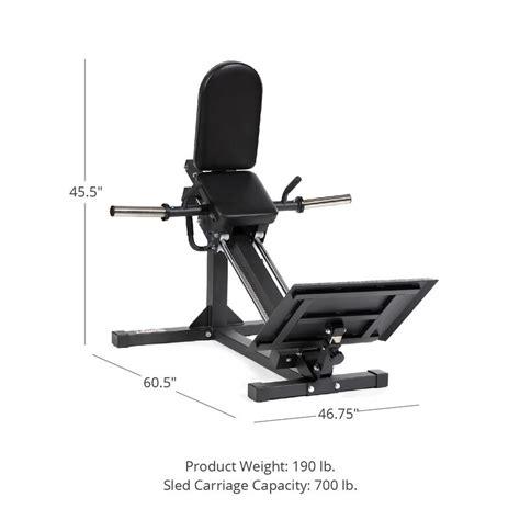 plate loaded linear hack squat machine
