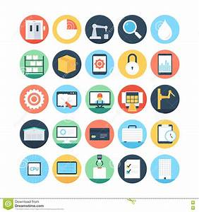 Factory Manufacturing Production Vector Icons 3 Stock