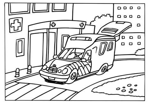 Ziekenwagen Kleurplaat by Kleurplaat Ziekenwagen Afb 6579