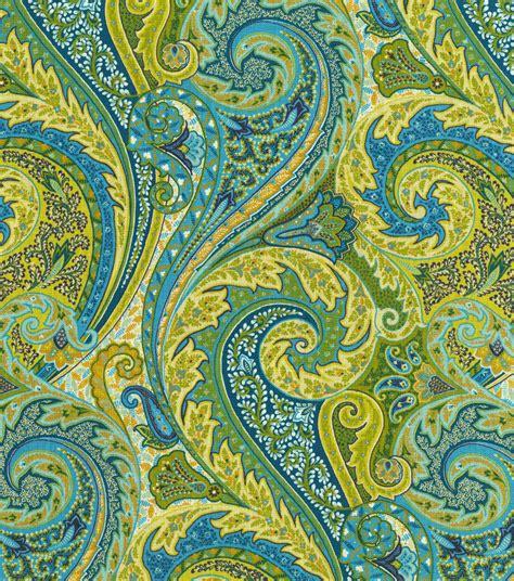 Upholstery Fabrics by Upholstery Fabric Williamsburg Jaipur Paisley Peacock