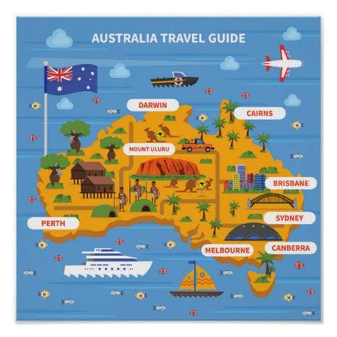 australia tourism bureau australia travel guide poster zazzle com