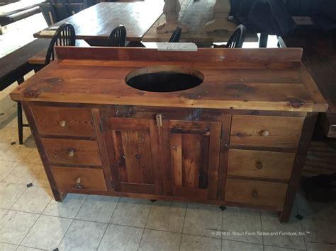 custom  sink vanity handcrafted  reclaimed antique