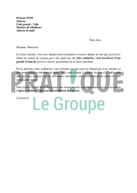 periode d essai cadre cdi lettre de rupture de la p 233 riode d essai d un cdi 224 l initiative de l employeur pratique fr