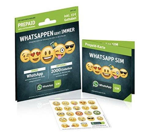 whatsapp prepaid sim karte