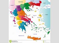 Grecja mapa ilustracja wektor Obraz złożonej z greeley