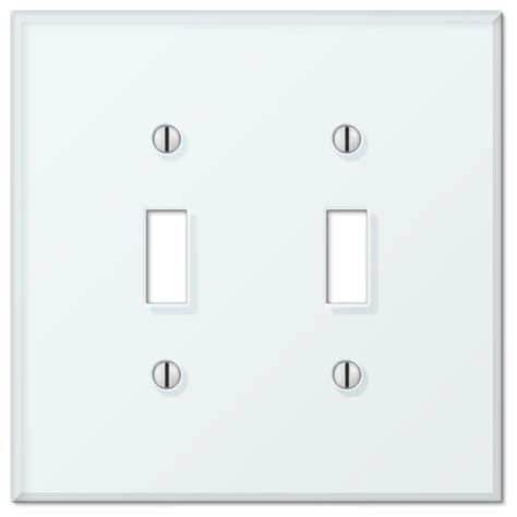 glass tile white acrylic 2 toggle wall plate contemporary switch plates and outlet covers