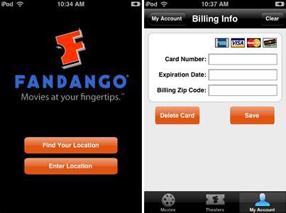 fandango app  long lines disappear