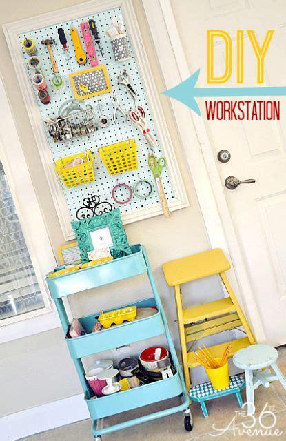 Craft Room Makeover Workstation Crafts Peg Boards And In Kitchen