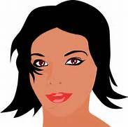 Woman With Black Hair Clip Art at Clker com - vector clip art online      Beautiful Lady Face Clip Art