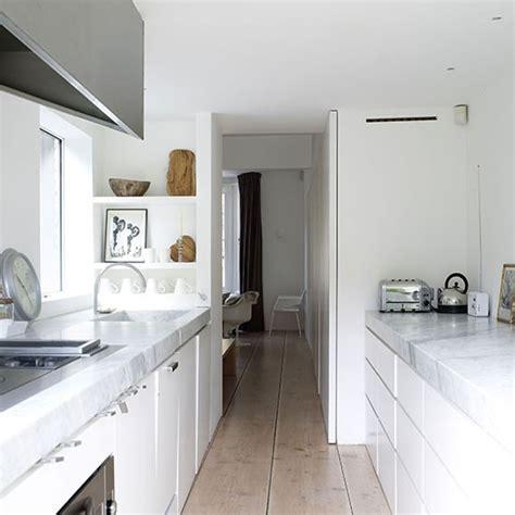 white kitchen ideas uk white galley kitchen with wood flooring galley kitchen