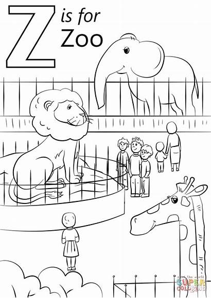 Coloring Zoo Letter Pages Printable Crafts Drawing
