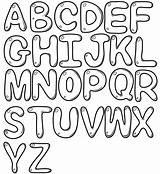 Bubble Font Coloring Letters Draw Letter sketch template