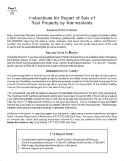 form nc 1099 report of sale of real property by
