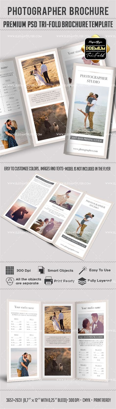 Tri Fold Brochure Templates Free By Elegantflyer Tri Fold Brochure Photography Template Free By Elegantflyer
