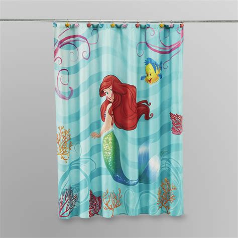 disney mermaid bathroom accessories essential home geometric print microfiber shower curtain