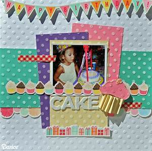Happy Birthday Scrapbook Layout - Live Craft Love