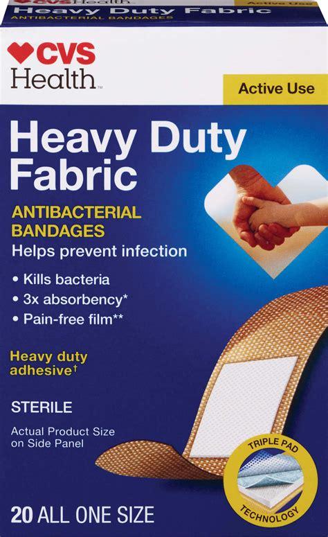 cvs health heavy duty anti bacterial fabric bandages
