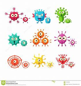Bacteria And Virus Fun Collection Stock Vector - Image ...
